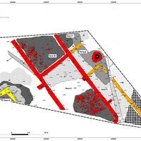 Planimetria dell'area di scavo