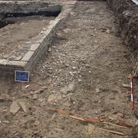 Panoramica dell'angolo sud-est dello scavo